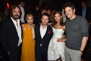 """Actors Angus Sampson, Hayley Kiyoko, writer/director Leigh Whanell, actress Stefanie Scott and producer Jason Blum attend the after party for the premiere of Focus Features' """"Insidious: Chapter 3"""" at the Emerson Theater on June 4, 2015 in Hollywood, California."""