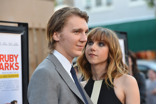"Actor Paul Dano and writer/actress Zoe Kazan arrives to the premiere of Fox Searchlight's ""Ruby Sparks"" at the Egyptian Theatre on July 19, 2012 in Hollywood, California."