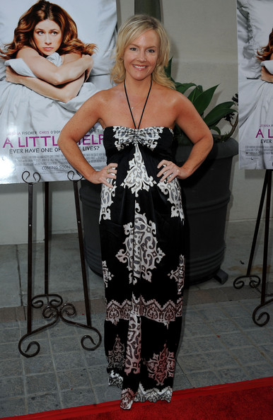 "Actress Rachael Harris arrives at the Premiere Of Freestyle Releasing's ""A Little Help"" at Sony Pictures Studios on July 14, 2011 in Culver City, California."