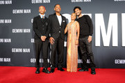 Jaden Smith, Will Smith, Jada Pinkett Smith and Trey Smith attend the Premiere of Gemini Man at the TCL Chinese Theater in Hollywood, CA on October 6, 2019.