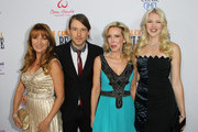 "(L-R) Actress Jane Seymour, Cal Campbell, Kim Campbell and Ashley Campbell attends the Premiere of ""Glen Campbell... I'll Be Me"" at Pacific Design Center on November 11, 2014 in West Hollywood, California."
