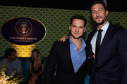"""Actors  Matt McGorry and Pablo Schreiberattend the Premiere Of HBO's """"The Brink"""" After Party at Paramount Studios on June 8, 2015 in Hollywood, California."""