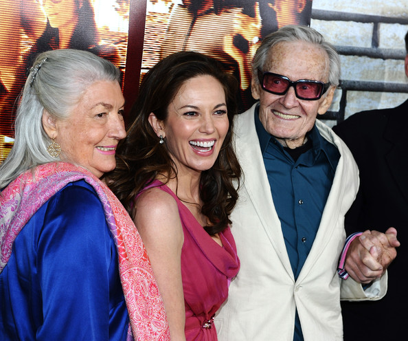 (L-R) Pat Loud, Actress Diane Lane and Bill Loud arrive at the premiere
