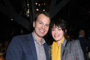 """Casey Bloys and Lena Headey attend the premiere of HBO's """"The Outsider"""" after party at  on January 09, 2020 in Los Angeles, California."""