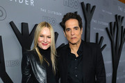 """Linda Larkin (L) and Yul Vazquez attend the premiere of HBO's """"The Outsider"""" at DGA Theater on January 09, 2020 in Los Angeles, California."""