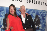 """Ruve McDonough (L) and Neal McDonough at the Premiere Of HBO's """"Spielberg"""" at Paramount Studios on September 26, 2017 in Hollywood, California."""