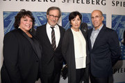 """(L-R) Susan Lacy, Steven Spielberg, Marilyn Katzenberg and Jeffrey Katzenberg at the Premiere Of HBO's """"Spielberg"""" at Paramount Studios on September 26, 2017 in Hollywood, California."""