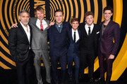 "(L-R) George Clooney, Jay Paulson, Lewis Pullman, Graham Patrick Martin, Josh Bolt, and Pico Alexander attend the U.S. premiere of Hulu's ""Catch-22"" at TCL Chinese Theatre on May 07, 2019 in Hollywood, California."