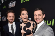 Actors Aaron Paul, Michelle Monaghan and Hugh Dancy attend the premiere of Hulu's 'The Path' at ArcLight Hollywood on March 21, 2016 in Hollywood, California.