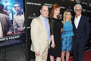 Director Matt Wiener, actress Christina Hendricks, actress Kiernan Shipka and director John Slattery arrive at the premiere of  IFC Films' 'God's Pocket' at LACMA on May 1, 2014 in Los Angeles, California.