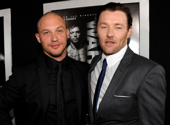Tom+Hardy in The Red Carpet at the Premiere of 'Warrior'