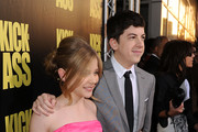 """Actress Chloe Moretz (L) and actor Christopher Mintz-Plasse arrive at the premiere of Lionsgate's """"Kick-Ass"""" held at The Cinerama Dome at the Arclight Hollywood on April 13, 2010 in Los Angeles, California."""