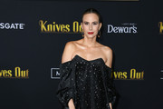"""Keltie Knight attends the premiere of Lionsgates' """"Knives Out"""" at Regency Village Theatre on November 14, 2019 in Westwood, California."""