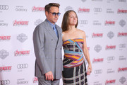 """Actor Robert Downey Jr. (L) and Producer Susan Downey attends the premiere of Marvel's """"Avengers: Age Of Ultron"""" at Dolby Theatre on April 13, 2015 in Hollywood, California."""