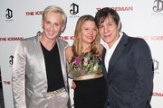 """(L-R) Designer David Meister and producers Heidi Jo Markel and Alan Siegel attend the Los Angeles special screening of Millennium Entertainment's """"The Iceman"""" at ArcLight Hollywood on April 22, 2013 in Hollywood, California."""