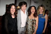 """(L-R) Producer/screenwriter Hanna Weg, producer Alan Siegel, executive producer/actress Salma Hayek and producer Heidi Jo Markel arrive at the premiere of Momentum Pictures' """"September Of Shiraz"""" at the Museum of Tolerance on June 21, 2016 in Los Angeles, California."""