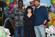 """Sterling K. Brown, Rachel Bloom and Jason Sudeikis attend the Premiere Of Netflix's """"Always Be My Maybe"""" at Regency Village Theatre on May 22, 2019 in Westwood, California."""