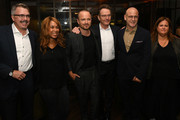 """(L-R) Vince Gilligan, Channing Dungey, Aaron Paul, Bryan Cranston and guests attend the Premiere of Netflix's """"El Camino: A Breaking Bad Movie"""" After Party at Baltaire on October 07, 2019 in Los Angeles, California."""