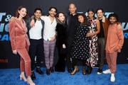 "(L-R) Camille Ramsey, Manish Dayal, Tyler Posey, Charlet Chung, Vin Diesel, Similce Diesel, Renee Elise Goldsberry, Jorge Diaz and Luke Youngblood.attend the premiere of Netflix's ""Fast and Furious: Spy Racers"" at Universal Cinema AMC at CityWalk Hollywood on December 07, 2019 in Universal City, California."