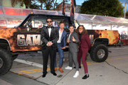 """(L-R) Kyle Newacheck, Anders Holm, Adam DeVine, Blake Anderson attend the premiere of the Netflix film """"Game Over, Man!"""" at the Regency Village Westwood in Los Angeles at Regency Village Theatre on March 21, 2018 in Westwood, California."""