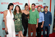 Actress Catherine Bell, actress Kathryn Hahn, actress Paula Patton, comedian Adam Sandler, comedian David Spade and comedian Nick Swardson attend the premiere of Netflix's 'The Do Over' at Regal LA Live Stadium 14 on May 16, 2016 in Los Angeles, California.