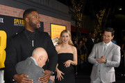 """(L-R) Alan Arkin, Winston Duke, Iliza Shlesinger, and Mark Wahlberg attend the Premiere of Netflix's """"Spenser Confidential"""" at Regency Village Theatre on February 27, 2020 in Westwood, California."""