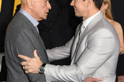"""(L-R) Alan Arkin and Mark Wahlberg attend the Premiere of Netflix's """"Spenser Confidential"""" at Regency Village Theatre on February 27, 2020 in Westwood, California."""