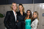 (L-R) Actors Luke Eisner, Ava Michelle, Clara Wilsey and Sabrina Carpenter attend the premiere of Netflix's 'Tall Girl' after party on September 09, 2019 in Los Angeles, California.