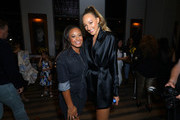 Actresses Nia Sioux (L) and Ava Michelle attend the premiere of Netflix's 'Tall Girl' after party on September 09, 2019 in Los Angeles, California.