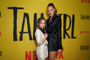 Sabrina Carpenter (L) and Ava Michelle attend the premiere of Netflix's 'Tall Girl' at Netflix Home Theater on September 09, 2019 in Los Angeles, California.