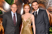 """(L-R)  Producer Toby Emmerich, actors Eleanor Tomlinson, and Nicholas Hoult attend the premiere of New Line Cinema's """"Jack The Giant Slayer"""" at TCL Chinese Theatre on February 26, 2013 in Hollywood, California."""