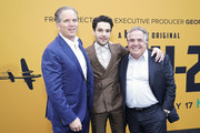 "(L-R) CEO of Hulu Randy Freer, Christopher Abbott and Chief Executive Officer of Paramount Pictures Jim Gianopulos attend the premiere of Hulu's ""Catch-22"" on May 07, 2019 in Hollywood, California."