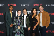 "Keith Powers, Jane Levy, Juan Castro, Daniella Pineda and Blake Jenner attend the premiere of Netflix's ""What/If"" at The London on May 16, 2019 in West Hollywood, California."