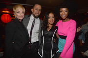 Actors Jaime Pressly, Affion Crockett, Essence Atkins and singer Brandy Norwood attend the after party for the premiere of Open Road Films' 'A Haunted House 2' at  on April 16, 2014 in Los Angeles, California.