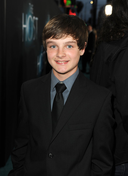 "Actor Chandler Canterbury attends the premiere of Open Road Films ""The Host"" at ArcLight Cinemas Cinerama Dome on March 19, 2013 in Hollywood, California."