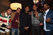 "Actors Quincy Brown, Affion Crockett, Marlon Wayans, Mehcad Brooks and Damon Wayans, Jr. attend the after party for the premiere of Open Road Films' ""Fifty Shades of Black"" at Regal Cinemas L.A. Live on January 26, 2016 in Los Angeles, California."