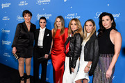 "Kris Jenner; Kyle Richards; Alicia Silverstone; Faye Resnick; Teddi Mellencamp Arroyave and Jennifer Bartels attend Premiere Of Paramount Network's ""American Woman"" - Arrivals at Chateau Marmont on May 31, 2018 in Los Angeles, California."