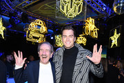 """Pierson Fode (R) attend Premiere Of Paramount Pictures' """"Bumblebee"""" on December 09, 2018 in Hollywood, California."""