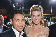 """Director Jon M. Chu and actress Adrianne Palicki attend the premiere of Paramount Pictures' """"G.I. Joe: Retaliation"""" at TCL Chinese Theatre on March 28, 2013 in Hollywood, California."""