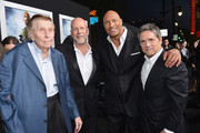 "(L-R) Viacom's Sumner Redstone, actors Bruce Willis, Dwayne ""The Rock"" Johnson and Paramount Pictures chairman and CEO Brad Grey attend the premiere of Paramount Pictures' ""G.I. Joe: Retaliation"" at TCL Chinese Theatre on March 28, 2013 in Hollywood, California."