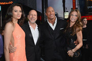 "(L-R) Emma Heming, actor Bruce Willis, Dwayne ""The Rock"" Johnson and Lauren Hashian attends the premiere of Paramount Pictures' ""G.I. Joe: Retaliation"" at TCL Chinese Theatre on March 28, 2013 in Hollywood, California."