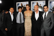 """(L-R) Director Jon M. Chu, actors Byung-Hun Lee, Adrianne Palicki, Bruce Willis and D.J. Cotrona attend the premiere of Paramount Pictures' """"G.I. Joe:Retaliation"""" at TCL Chinese Theatre on March 28, 2013 in Hollywood, California."""