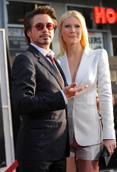"""Actor Robert Downey Jr. and actress Gwyneth Paltrow arrive at the world premiere of Paramount Pictures and Marvel Entertainment's """"Iron Man 2? held at El Capitan Theatre on April 26, 2010 in Hollywood, California."""
