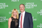 """Actors Morgan Walsh (L) and Matt Walsh attend the premiere of Paramount Pictures' """"Office Christmas Party"""" at Regency Village Theatre on December 7, 2016 in Westwood, California."""