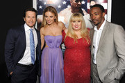 """(L-R) Actors Mark Wahlberg, Bar Paly, Rebel Wilson, and Anthony Mackie arrive at the premiere of Paramount Pictures'.""""Pain & Gain"""" at TCL Chinese Theatre on April 22, 2013 in Hollywood, California."""