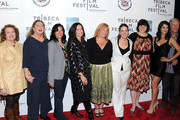 "(L-R) Rebecca Wackler, Kathleen Turner, Paula Goldberg, Anne Renton, Connie Cummings, Jennifer Dubin, Angelique Cabral and Richard Chamberlain attends the premiere of ""The Perfect Family"" at the 2011 Tribeca Film Festival at BMCC Tribeca PAC on April 24, 2011 in New York City."