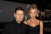 """Writer/director/producer Andrew Niccol and actress Rachel Roberts arrive at the premiere of Regency Enterprises' """"In Time"""" on October 20, 2011 in Westwood, California."""