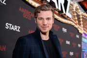 Derek Theler arrives at the premiere of STARZ's 'American Gods' Season 2 at Ace Hotel on March 05, 2019 in Los Angeles, California.