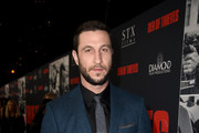 "Pablo Schreiber attends the premiere of STX Films' ""Den of Thieves"" at Regal LA Live Stadium 14 on January 17, 2018 in Los Angeles, California."