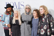 """(L-R) Pam Grier, Jacki Weaver, Diane Keaton, Rhea Pearlman and Celia Weston attend the premiere of STX's """"Poms"""" at Regal LA Live on May 01, 2019 in Los Angeles, California."""